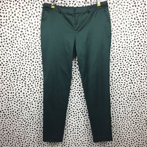 Joie Green Silk Satin Cropped Pants Size 4